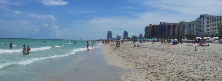 Touristes sur les plages de Miami